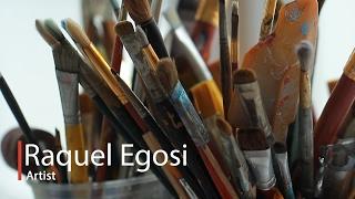 In Art Studio ink painting techniques - Raquel Egosi Painter