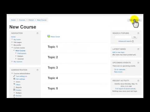how to turn editing on in moodle
