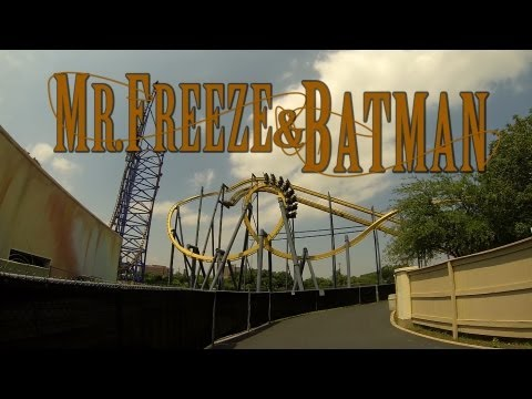 roller coasters - Mr. Freeze is a reverse roller coaster that shoots you backwards from 0-70 in just over 3 seconds. Batman the ride is a hanging coaster that sends you around some crazy loops and spirals. ...