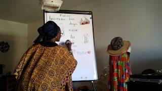 Cours de langue : Bamanankan, dugu, muso, tiè. Kazirinda, vocabulaire avec Natou THIAM. How to say some words in Bamanan...