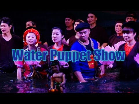 Water Puppet Performance at a theater in Hanoi, Vietnam travel video