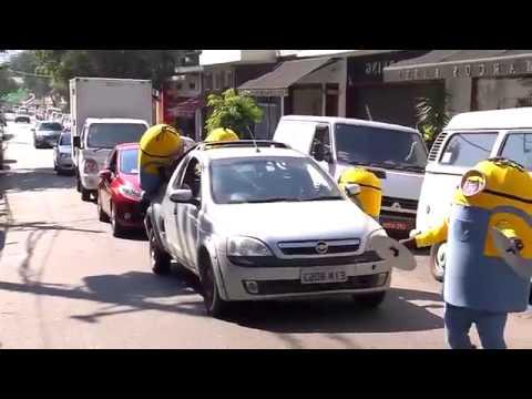 Minions rebeldes causan estragos en calles de Brasil