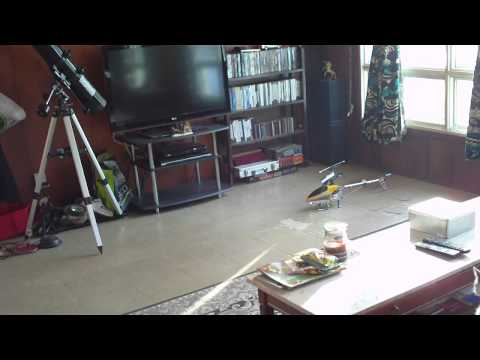 M1 Chasing Skyline rc helicopter.MOV
