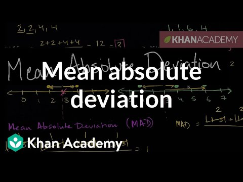 Mean Absolute Deviation Mad Video Khan Academy