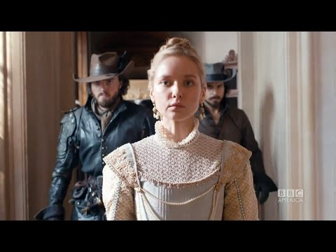 Rochefort accuses Queen Anne of treason on The Musketeers Episode 9