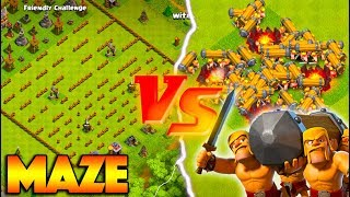 Video MASS BATTLE RAM vs THE MAZE! CLASH OF CLANS NEW TROOP CHALLENGE! MP3, 3GP, MP4, WEBM, AVI, FLV Agustus 2017