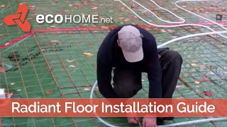 Installing Tubes For A Radiant Floor