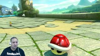 My fellow gamers. Today I am playing Mario Kart 8 Deluxe in Hard mode, 200cc cup. Check out the epic win.