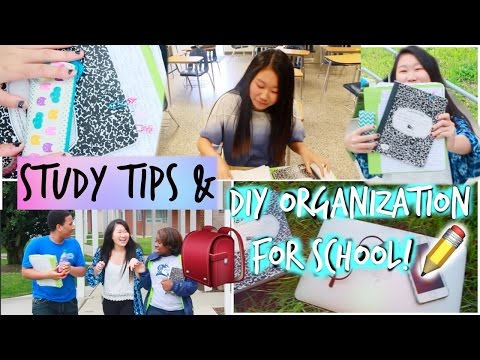 Study Tips/Hacks & DIY Organization for School and Finals!