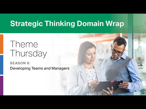 CliftonStrengths Strategic Thinking Domain Wrap: Developing Teams and Managers -- Theme Thursday S6
