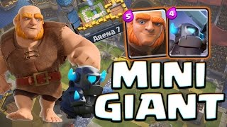 BEST ARENA 7 deck you asked youve got it!! This GIANT CYCLE DECK WITH THE MINI PEKKA INSIDE IT will work for arena 7 and 8 and even arena 9 as you can see we...