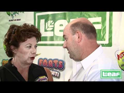 Rondi Reed form Mike and Molly is interviewed by Brian Whitman for Leaf Brands