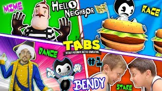 The TOTALLY ACCURATE BATTLE SIMULATOR General has arrived in the middle of BENDY & THE INK MACHINE & HELLO NEIGHBOR MART fist fight. Enough said, this epic video needs to be watched to the end and then watch PART 2 where they have a real TABS battle!  Get this video to 7 gazillion likes and we will all take a trip to the moon one day! ;)Check out the TABS guy 1st appearance on FGTEEV (he so needs a name badly: suggestions?)💥EATING PEOPLE!! Totally Accurate Battle Simulator #1! 3 Million Subs (FGTEEV TABS Gameplay / Skit) https://www.youtube.com/watch?v=tTnhGE1ZZ1IPart 1:HELLO NEIGHBOR ALPHA 4! Simon Says Game? (Pt 1) Bendy Ink Machine in Basement? + FGTEEV Elevator 2.0https://youtu.be/Tm-uAFGOAm8Part 2:HELLO NEIGHBOR ALPHA 4: CHOO CHOO TRAINS & BOO BOO THANGS🔥 FGTEEV Pt 2 Basement Marts Tips & Trickshttps://youtu.be/EMQvKJg7vWQPart 3:HELLO NEIGHBOR NIGHTMARE DOORS OF DEATH! ALPHA 4 DOUBLE JUMP Mini Game w/ Red & Green Key FGTEEV #3https://youtu.be/fKQ-o0TRPEsPart 4:HELLO NEIGHBOR = BACK STABBER! Alpha 4 Basement Trolls Trick! FGTEEV Pt 4 The End Finale + Bendy Inkhttps://youtu.be/n9adzVjAiEUBENDY in BIKINI BOTTOM Part 1-Storytime: 👹BENDY & the Ink Krabby Patty Machine @ KRUSTY KRAB w/ Spongebob! Hello Neighbor gets Secret Formula?https://youtu.be/zqQcUCy6S6IPart 2-Gameplay:👹HELLO NEIGHBOR SPONGEBOB DEATHRUN vs. BENDY & THE INK MACHINE! Krusty Krab FNAF Jump Scares 4 FGTEEVhttps://youtu.be/PabgGzPoJD8👹EVIL MICKEY MOUSE!??! BENDY & THE INK MACHINE: Chapter 1 😱 FGTEEV 2 Scary Kids Gameplay Jump Scareshttps://youtu.be/UFVqKJeSUPA👹DON'T SCARE MY BABY! Bendy and the Ink Machine #2 CHAPTER TWO (FGTEEV plays SCARY MICKEY MOUSE Game)https://youtu.be/OKprortusv4👹DAD CAPTURED! Bendy and the Ink Machine #3 Haunts Our House FGTEEV Chapter 2 Boss 👹 SCARY Kids Gamehttps://youtu.be/aAIHirYyUfA👹BENDY & THE INK MACHINE GUNS vs. HELLO NEIGHBOR, FGTEEV, AMAZING FROG, TATTLETAIL & FNAF Garry's Modhttps://youtu.be/6LoNaM9zYJcHello Neighbor FGTEEV Videos:MINECRAFT HELLO NEIGHBOR💣HELLO NEI
