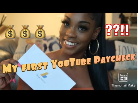 My first YouTube paycheck