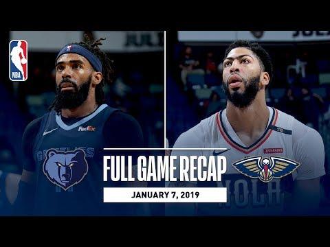 Video: Full Game Recap: Grizzlies vs Pelicans | A.D. Scores 36