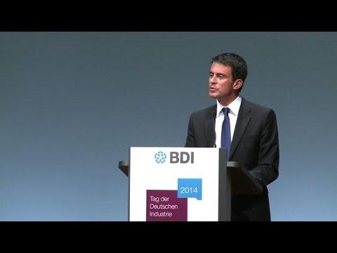 Manuels Valls ovationné par le patronat allemand
