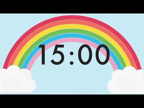 15 Minute Countdown Rainbow Timer 🌈