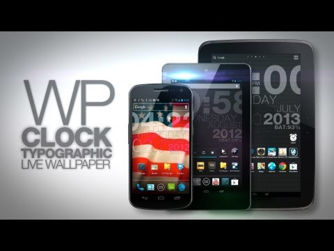 Video of wp clock design live wallpaper