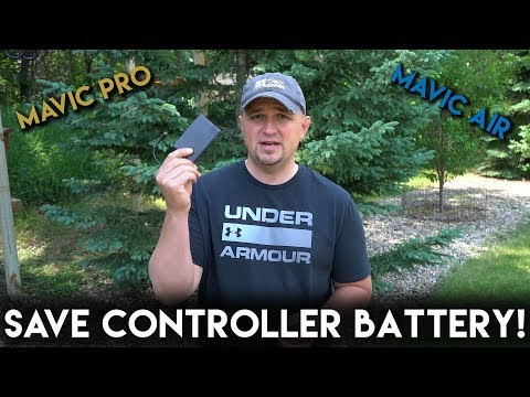 Mavic Pro and Mavic Air Quick Tip | How to Save Controller Battery.