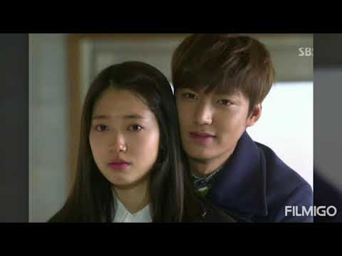 Korean Lee min ho and park shin hye best scenes the hairs