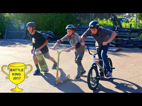 Scooter VS Bmx VS Skateboard!!! *ULTIMATE BATTLE* (видео)