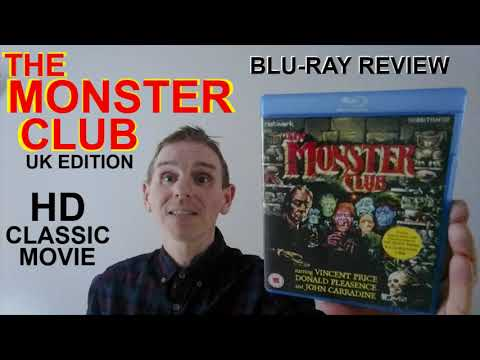 THE MONSTER CLUB MOVIE  BLU RAY REVIEW 1981 NETWORK John Carradine Vincent Price BRITISH 80s MOVIE.