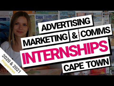 Advertising, Communications and Marketing Internships Cape Town, South Africa (2018 & 2019)