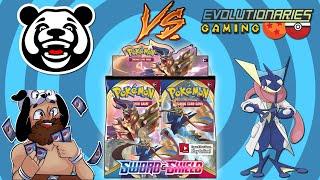 Pokemon Sword and Shield Booster Box Battle with BigJigglyPanda! by The Pokémon Evolutionaries