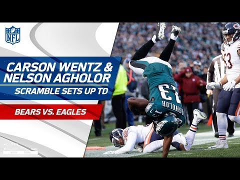 Video: Carson Wentz's 3rd Down Scramble Sets Up Nelson Agholor's Diving TD! | Bears vs. Eagles | NFL Wk 12