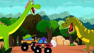 Video Dinosaurs Cartoons for children with Dino Egg Rescue by Little Red Truck - videos for Kids MP3, 3GP, MP4, WEBM, AVI, FLV Juli 2018