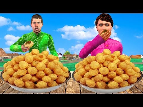 गोलगप्पा पानी पूरी चुनौती Golgappa Pani Puri Food Challenge Comedy Video हिंदी कहानिय Hindi Kahaniya