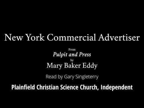 New York Commercial Advertiser, From Pulpit And Press, By Mary Baker Eddy