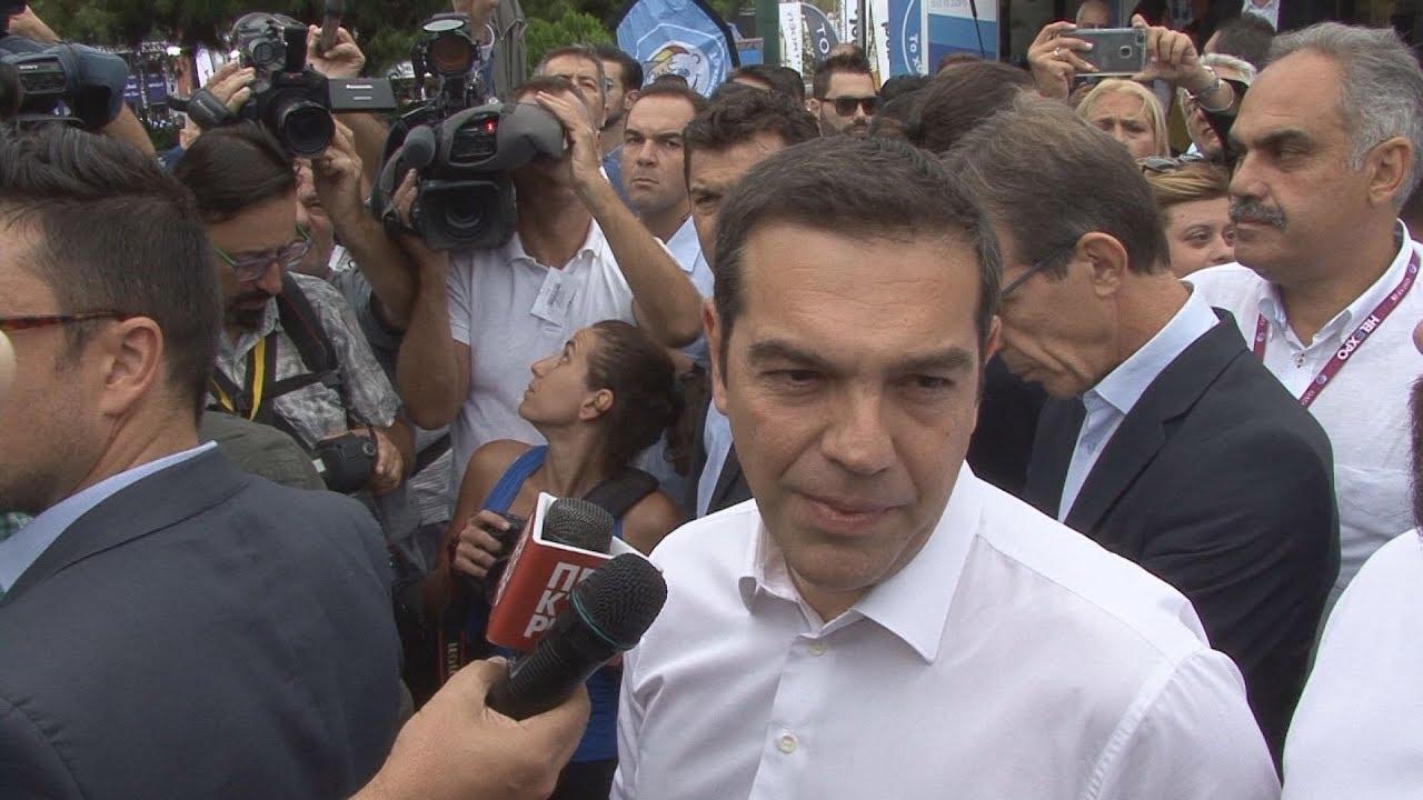 Δήλωση πρωθυπουργού Α. Τσίπρα στο περίπτερο του ΑΠΕ-ΜΠΕ στην 83η ΔΕΘ