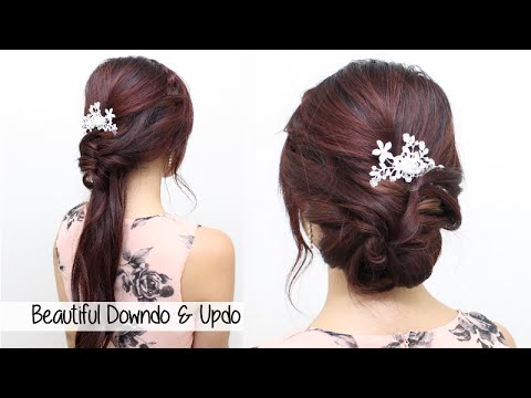 Homecoming Prom Bridal Wedding Hair Tutorial l Beautiful Hairstyles for Medium Long Hair