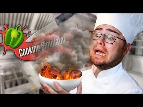 THE WORST FIRST DAY AS A CHEF | Cooking Simulator