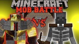 BIG GOLEM VS. MUTANT SKELETON - Minecraft Mob Battles - Mo Creatures and Mutant Creatures Mods
