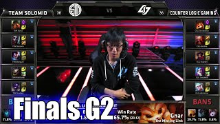 CLG vs TSM (team Solomid) | Game 2 Grand Finals S5 NA LCS Summer 2015 Playoffs | TSM vs CLG G2 Final