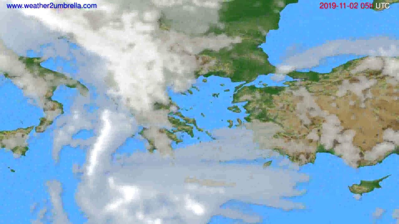 Cloud forecast Greece // modelrun: 00h UTC 2019-11-01