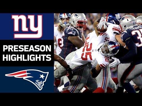 Giants vs. Patriots | NFL Preseason Week 4 Game Highlights - Thời lượng: 5:11.