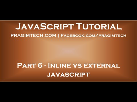 Inline vs external JavaScript