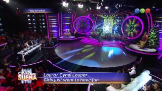 Laura Esquivel, Es Cyndi Lauper, Canta – Tú Cara Me Suena 2013 Video