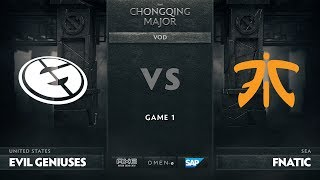 [RU] Evil Geniuses vs Fnatic, Game 1, The Chongqing Major Group D
