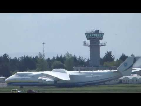 airport - 21st May 13.30 2013 The worlds biggest aircraft AN-225 taxiing to park after touching down at Shannon (SNN) Ireland. check out my video of this super sized f...