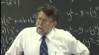 Lecture 28: Beginning Algebra (Math 70)
