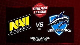 Natus Vincere vs Vega Squadron, DreamLeague Minor, bo3, game 1 [Mortalles & Adekvat ]