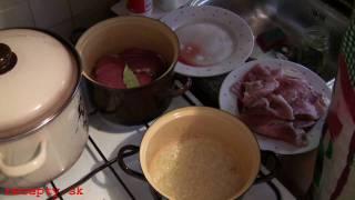Recepty sk: Dusené hovädzie-bravčové s chrenovou omáčkou