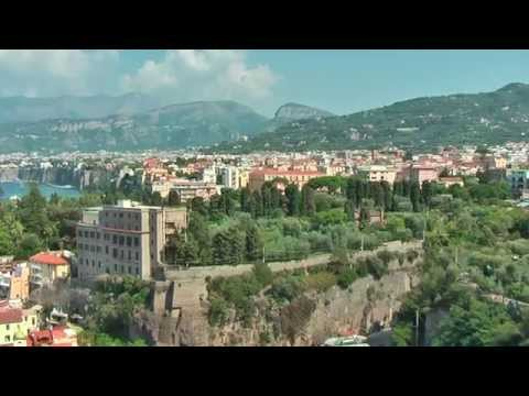 Sorrento (Italy) overlooks the Bay of Naples and you can see Vesuvius and the Isle of Capri