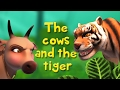 The Cows and the Tiger   Stories for Kids   Infobells