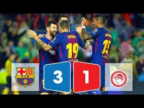 Kết quả bóng đá Barcelona vs Olympiakos 3-1 ngày 19/10/2017 (Champions League 2017/18)