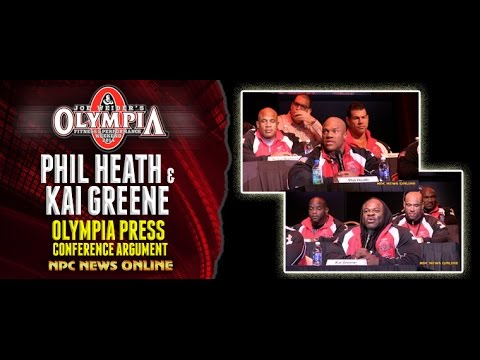 Argument - Kai Greene and Phil Heath Olympia Press Conference Argument npcnewsonline.com.